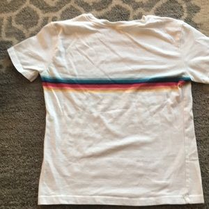 Brandy Melville Tops - Brandy Melville rainbow strip shirt